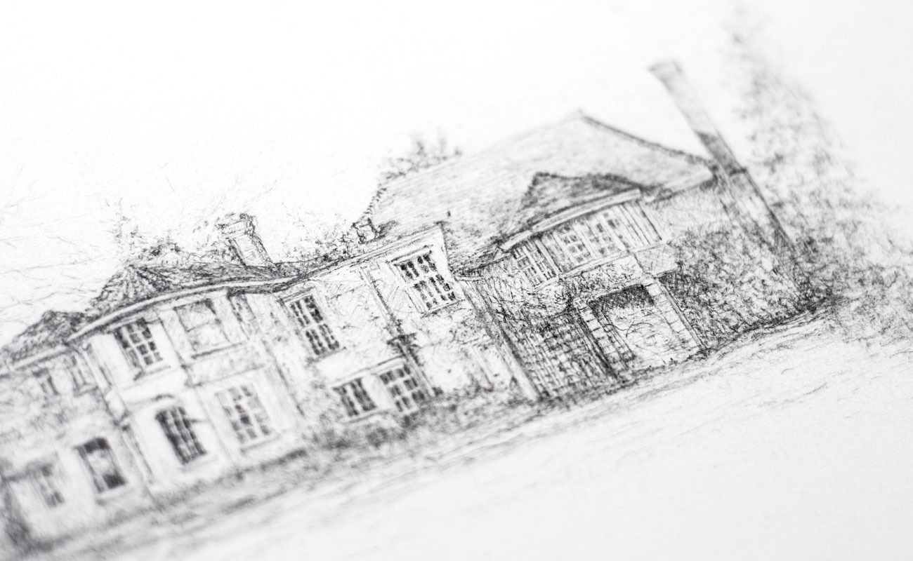 Liz-mellan-pencil-ink-commissions-little-boldre-house-3b